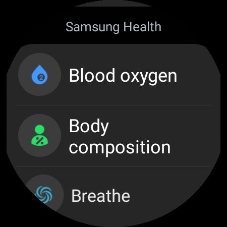 blood oxygen samsung galaxy watch 4 face