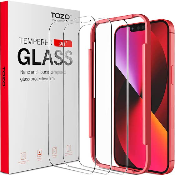 TOZO Compatible for iPhone 13 Screen Protector and iPhone 13 Pro