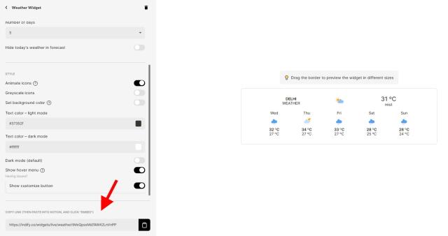 Notion indify widget
