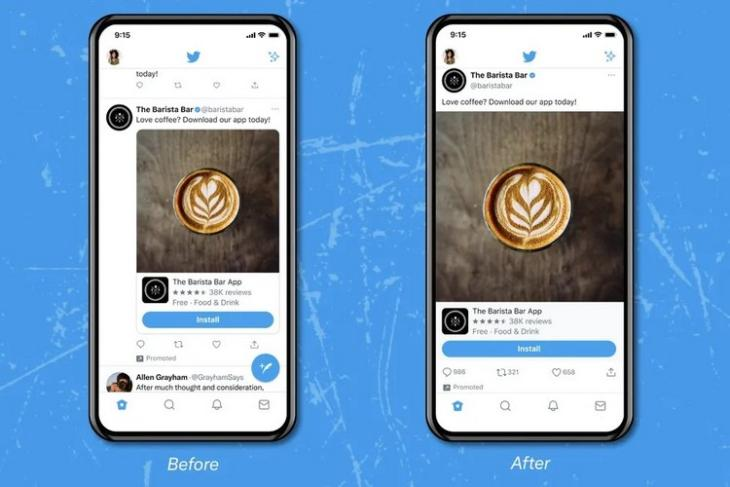 Twitter Tests New Edge-to-Edge Format for Videos, GIFs on User Timeline for iOS Devices