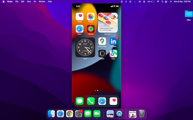 Unlock your iPhone to see it in QuickTime