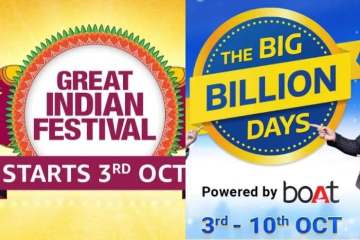 Flipkart, Amazon Prepone Sale Events to Rival Each Other; Both Events to Go Live on October 3