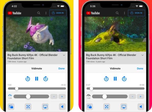 Vidimote Safari extension for iPhone