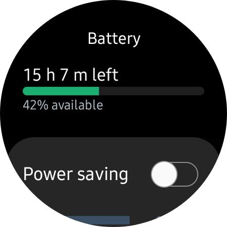 Samsung Galaxy Watch 4 remaining battery
