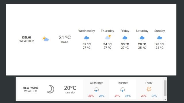 weather widget notion