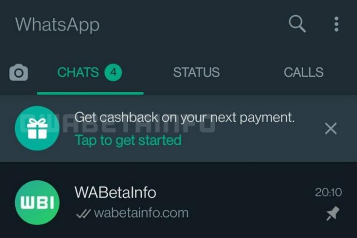 WhatsApp Pay May Soon Offer Cashbacks for UPI Payments