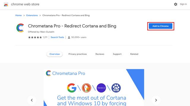 Chrometana Pro-Erweiterung hinzufügen