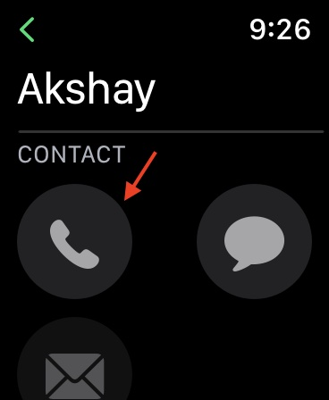choose the contact you wish to call