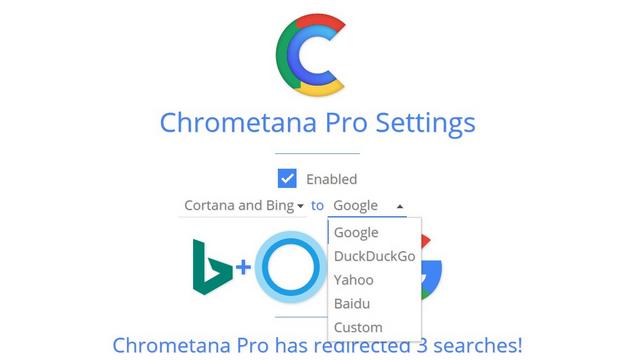 chrometana pro konfigurieren