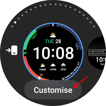 customize from watch