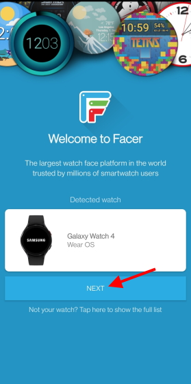 detected watchface