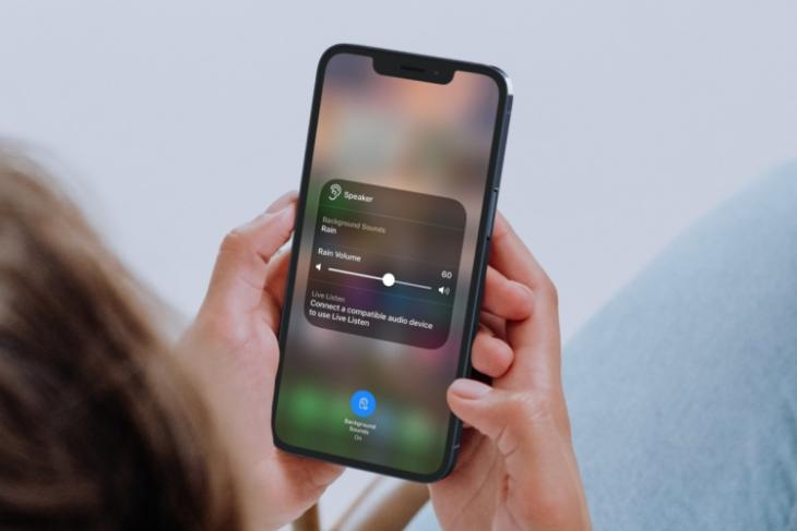 how to enable or turn on background noise in iOS 15 on iPhone and iPad - relax using rain background sound in iOS 15