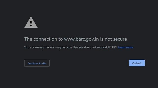 Avertissement https non pris en charge
