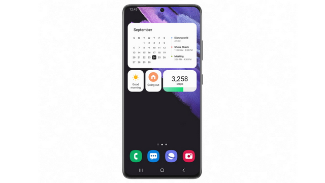one ui 4 beta widgets