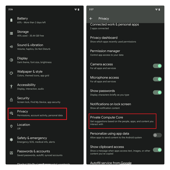 private-compute-core-settings