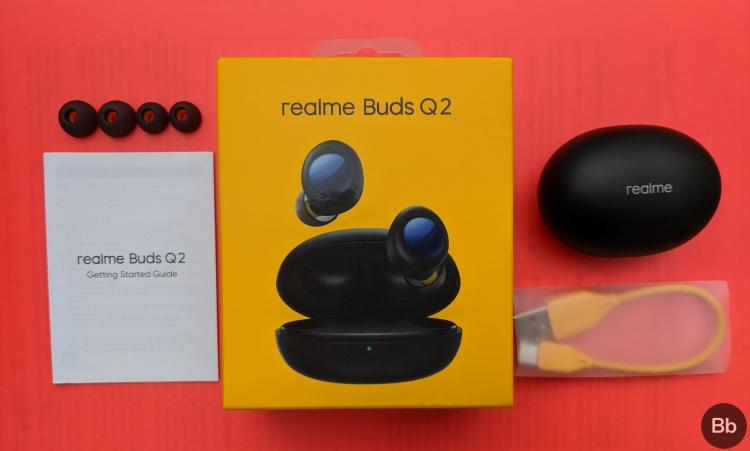 realme buds q2 box contents