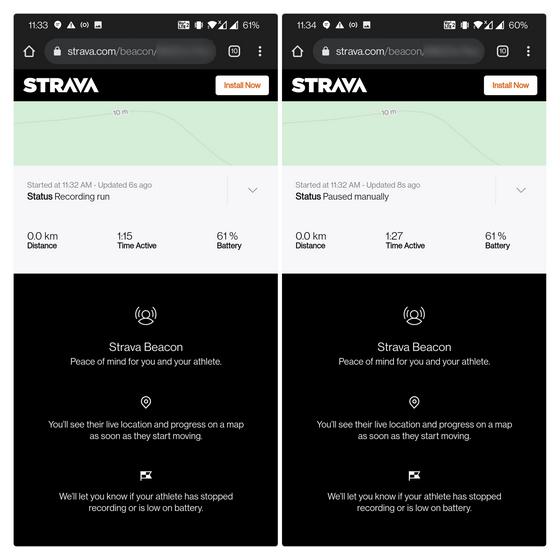 Siehe detaillierte Statistiken - Live-Standort teilen Strava