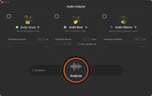 videoproc audio analyser