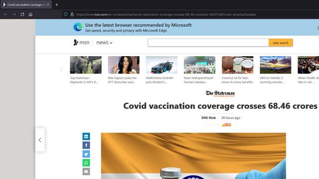 Widget-Link auf Firefox