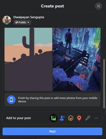 O Facebook agora permite adicionar fotos de dispositivos móveis na web;  Veja como usá-lo