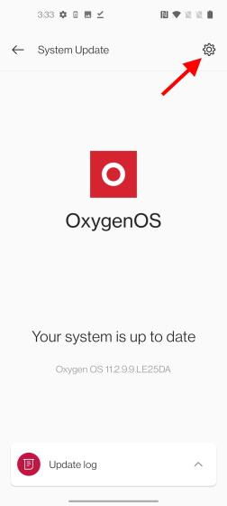 icône d'engrenage oxygène os 12 bêta ouverte