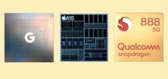 Google Tensor vs Snapdragon 888 vs A15 Bionic Best Smartphone Chipset?