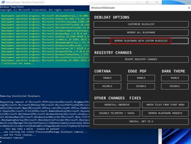 Windows 11'i Gereksiz Uygulamalardan ve Hizmetlerden Debloat (2021)