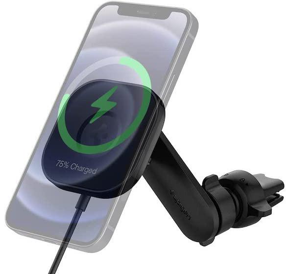 Spigen OneTap Pro MagSafe wireless charging car mount