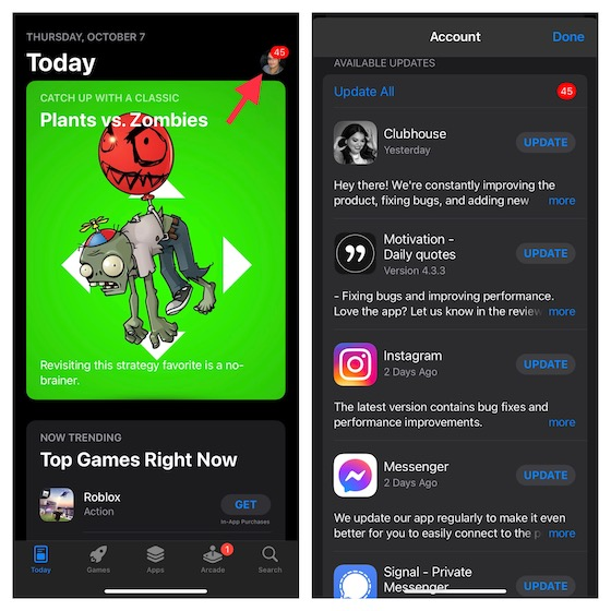Update Apps on your iPhone or iPad