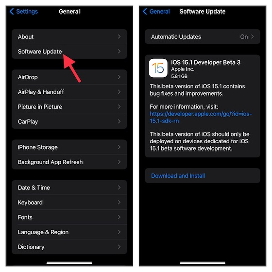 Update Software on your iPhone or iPad