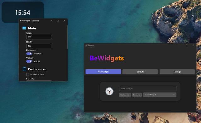 personalizar novo widget