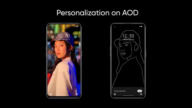 personalization on aod Realme UI 3.0