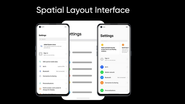 spatial layout interface
