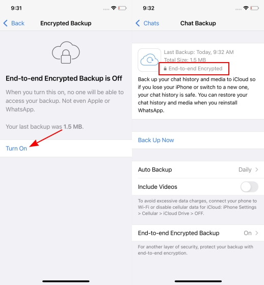 WhatsApp Beta for iOS Gets End-to-End Encrypted Chat Backups