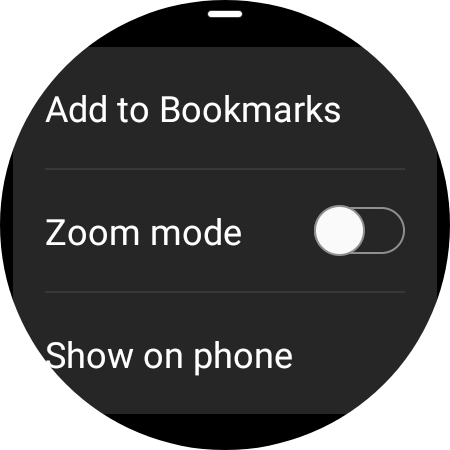 navigateur samsung mode zoom